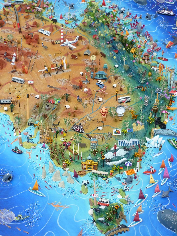 Giant Map Of Australia.Australia Map Sara Drake