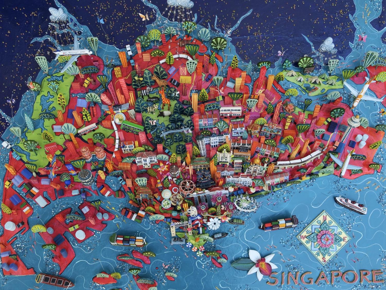 Singapore Map — Sara Drake