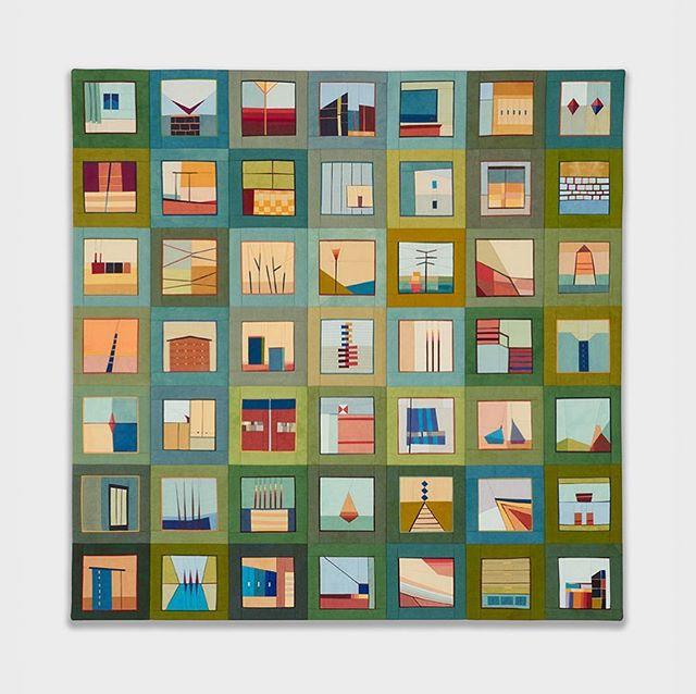 "recent commission for a favorite client  Color Story: Spiegel Green 24.5"" x 24.5"" 📷 @blackandsteil"