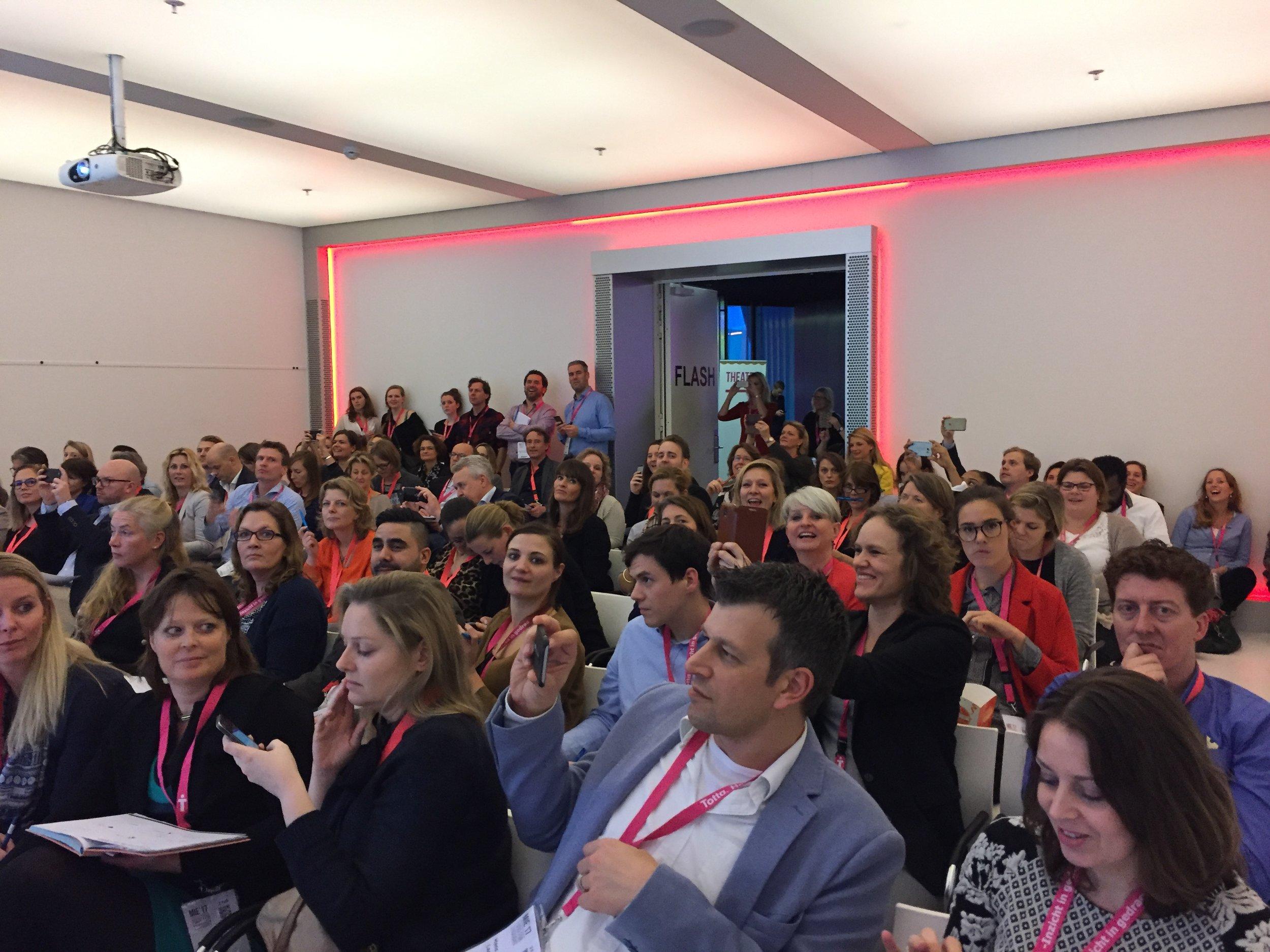 Workshop 'Brand Storytelling: Hoe zet ik verhalen in voor mijn merk?' op het Marketing Insights Event 2017.