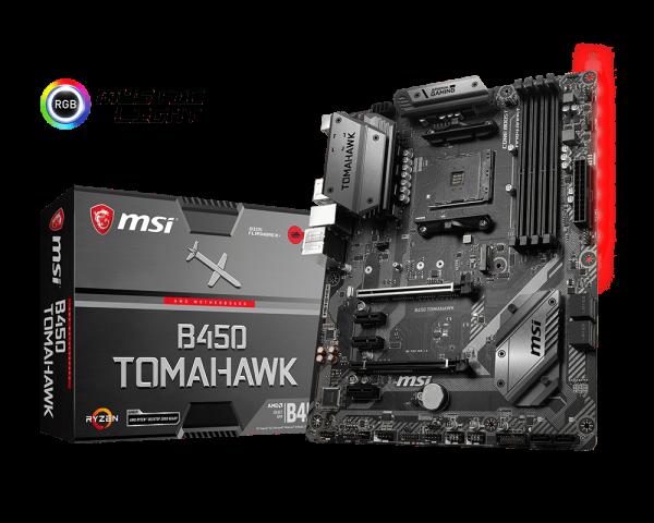 MSi B450 Tomahawk Motherboard // cr: MSi