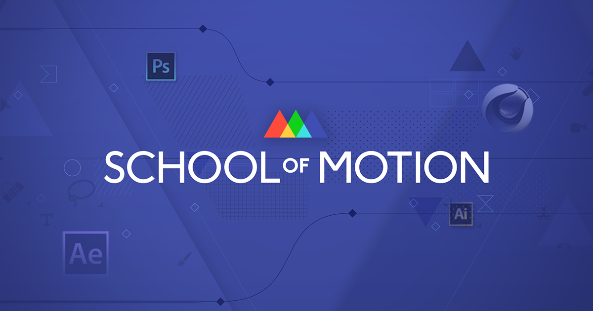 Take courses and lessons on School Of Motion. // Cr: School Of Motion