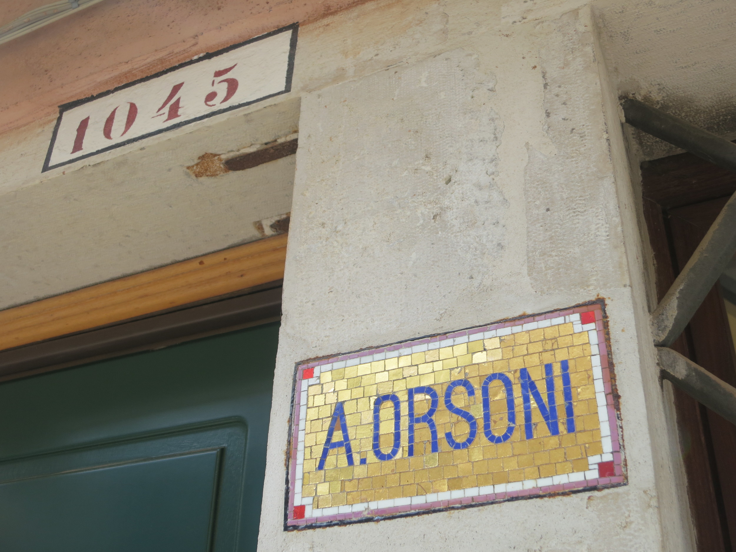 Look for the green door: #1045Home of Orsoni World Headquarters and the Orsoni School of Mosaic