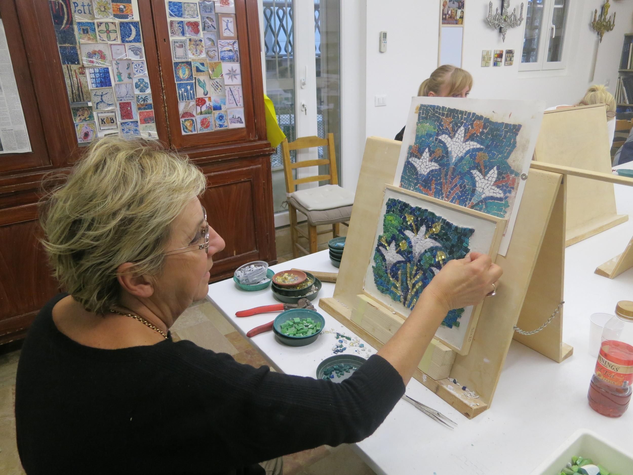 Luciana Notturni critiquing my work :)
