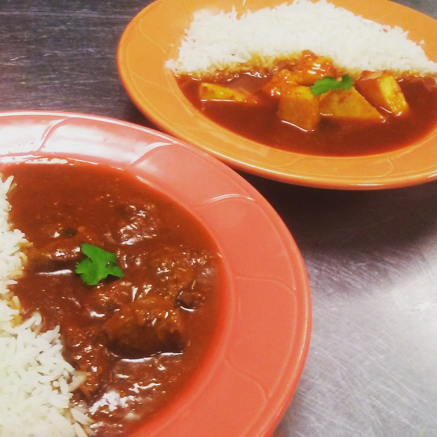 Sweet and Spicy Paneer and Lamb Curry
