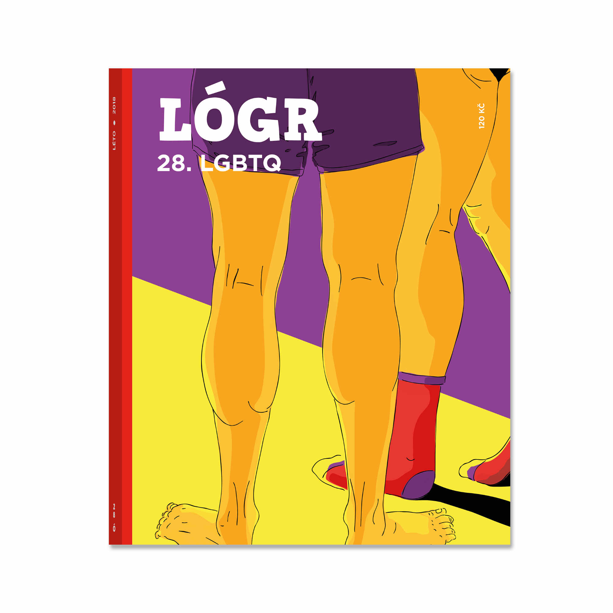 LOGR magazin LGBTQ brunhilda illustration ilustrace