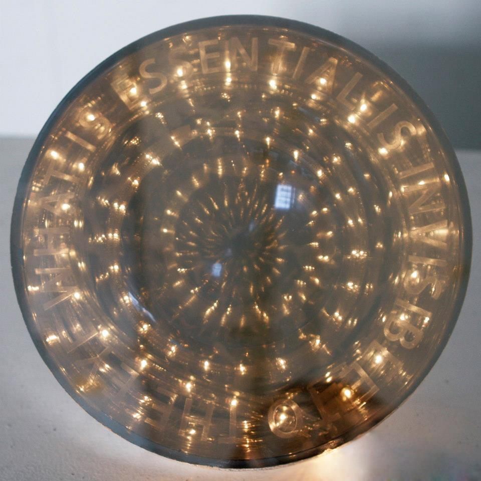What is essential is invisible to the eye  Plexiglass, LED lights and plastic hemisphere    Dimensions variable (diameter 24.13cm (9.5 inch))  2013