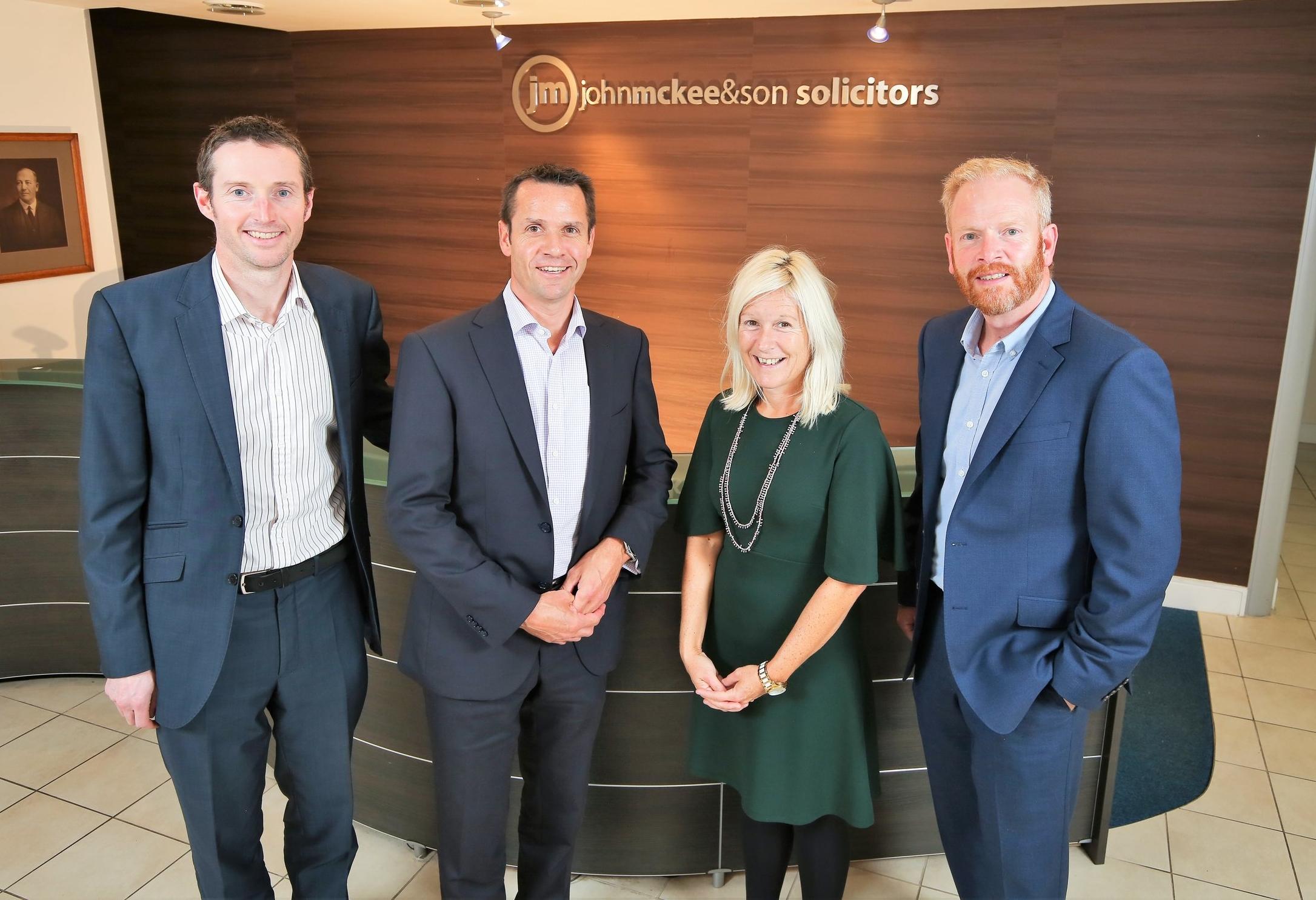 Members of the John McKee Solicitors energy team Philip McBride, Chris Ross, Andrea McCann and Alan Bissett.