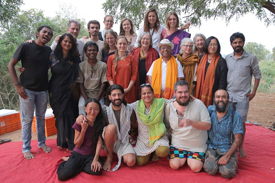Jude and Rico at the Teachers Training course at the International Permaculture Conference in India 2017