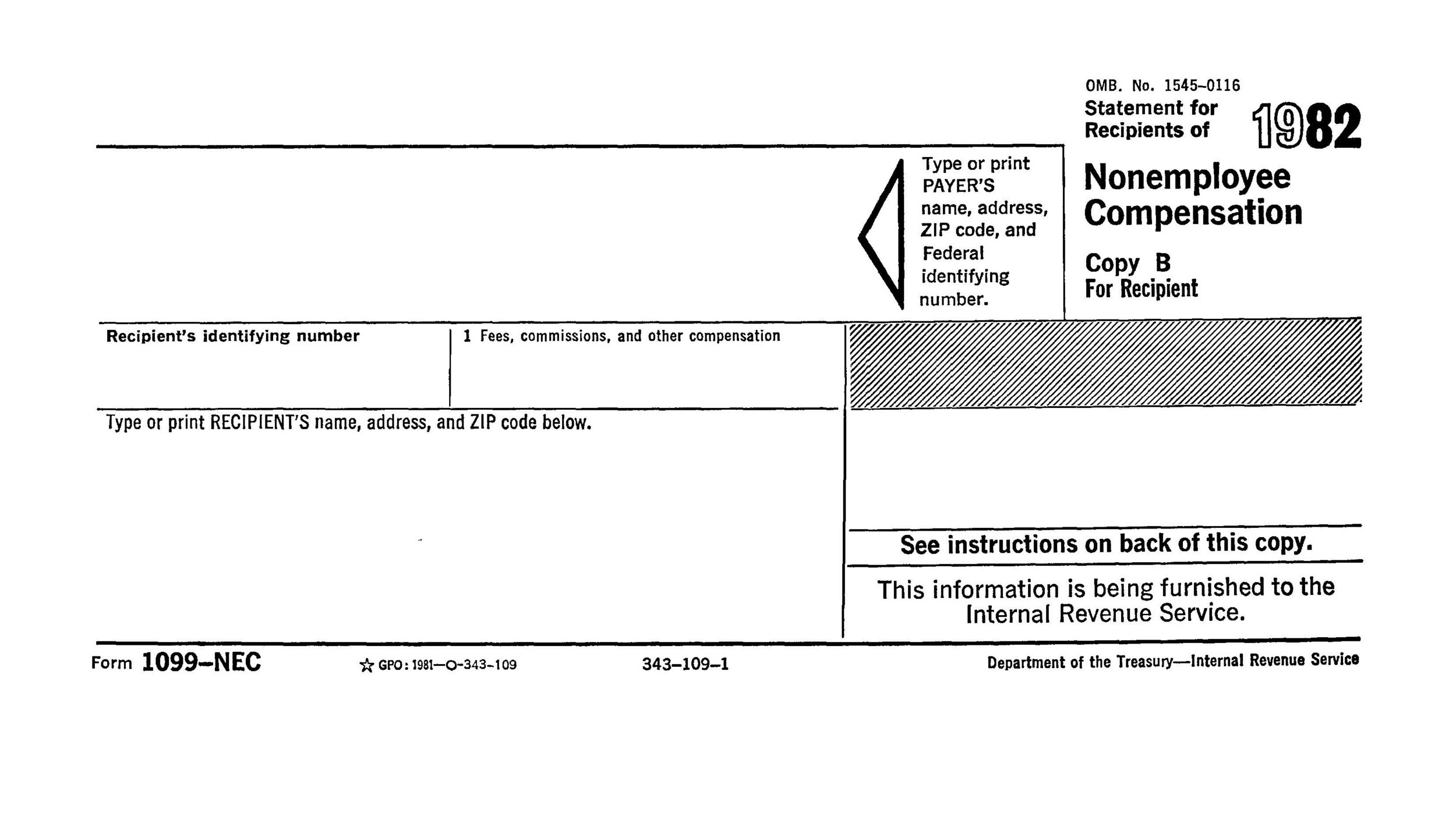 IRS to Bring Back Form 1099-NEC, Last Used in 1982 — Current
