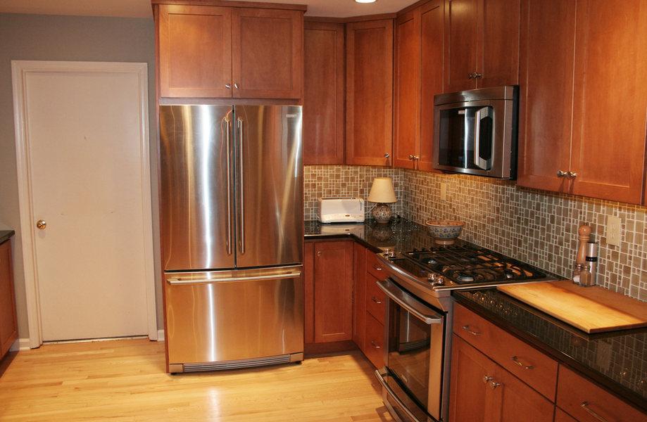 Pennington Kitchen Renovation Stainless Appliances Wood Cabinets.jpg