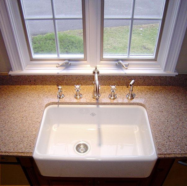 Hopewell Kitchen Renovation Farmhouse Sink Wood Cabniets Tile Flooring.jpg