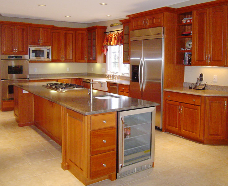 Hopewell Kitchen Renovation Wine Refridgerator Granite Countertops.jpg