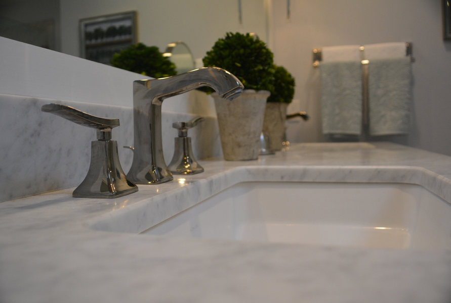 Pennington NJ Master Bath Remodel Marble Nickel Fixtures ptimized.jpg
