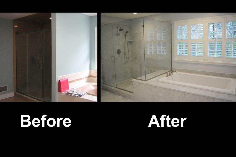Pennington Sleek Carrara Marble Bathroom Renovation Before After optimized.jpg