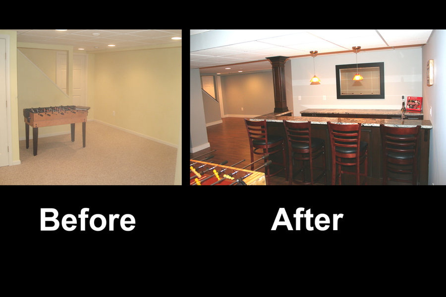 AE Construction Basement Bar Gameroom Before After.jpg