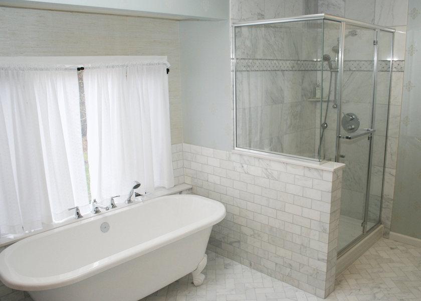 A&E Construction Master Bath Clawfoot Tub Herringbone Tile optimized.jpg