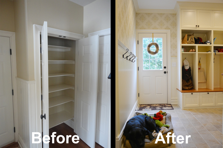 A&E Construction Mudroom Custom Built Ins Before After optimized.jpg
