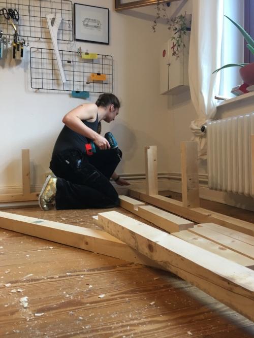 Schritt 3.2: Unterkonstruktion Stützen