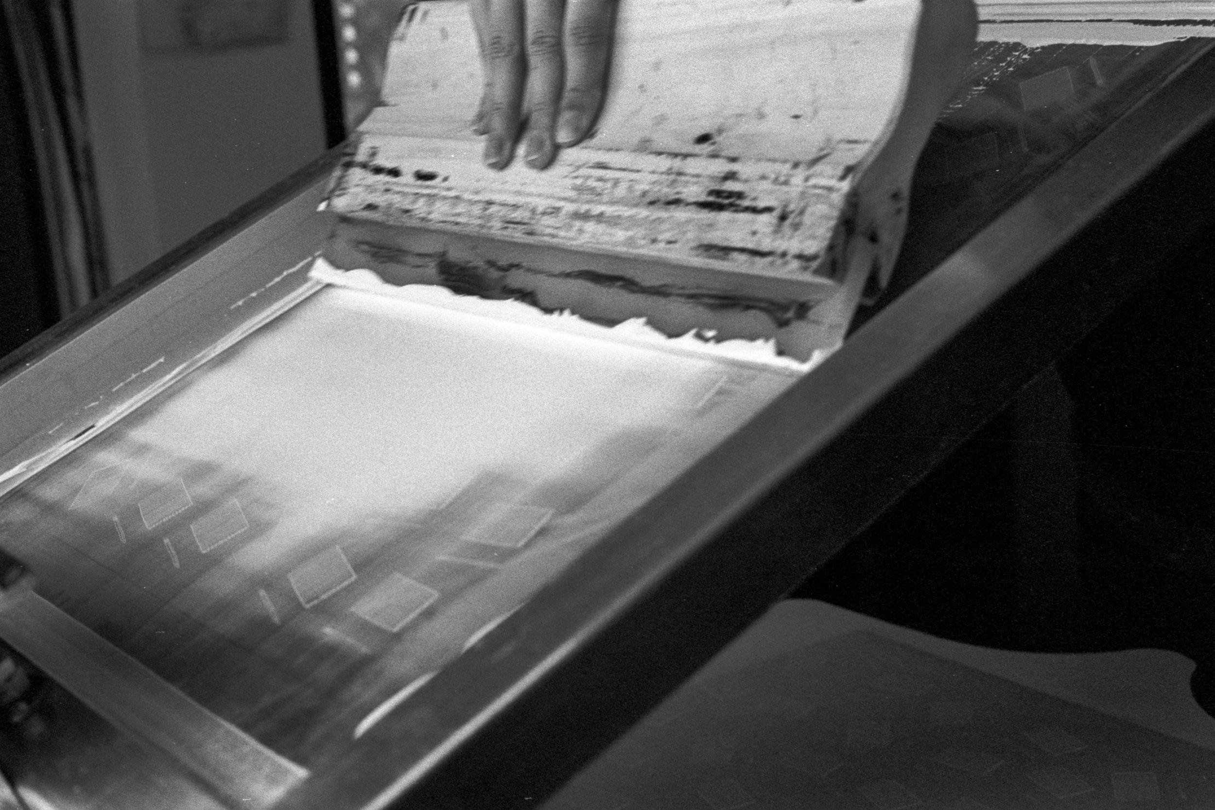 Stanley James Press  screenprinting for Fieldwork