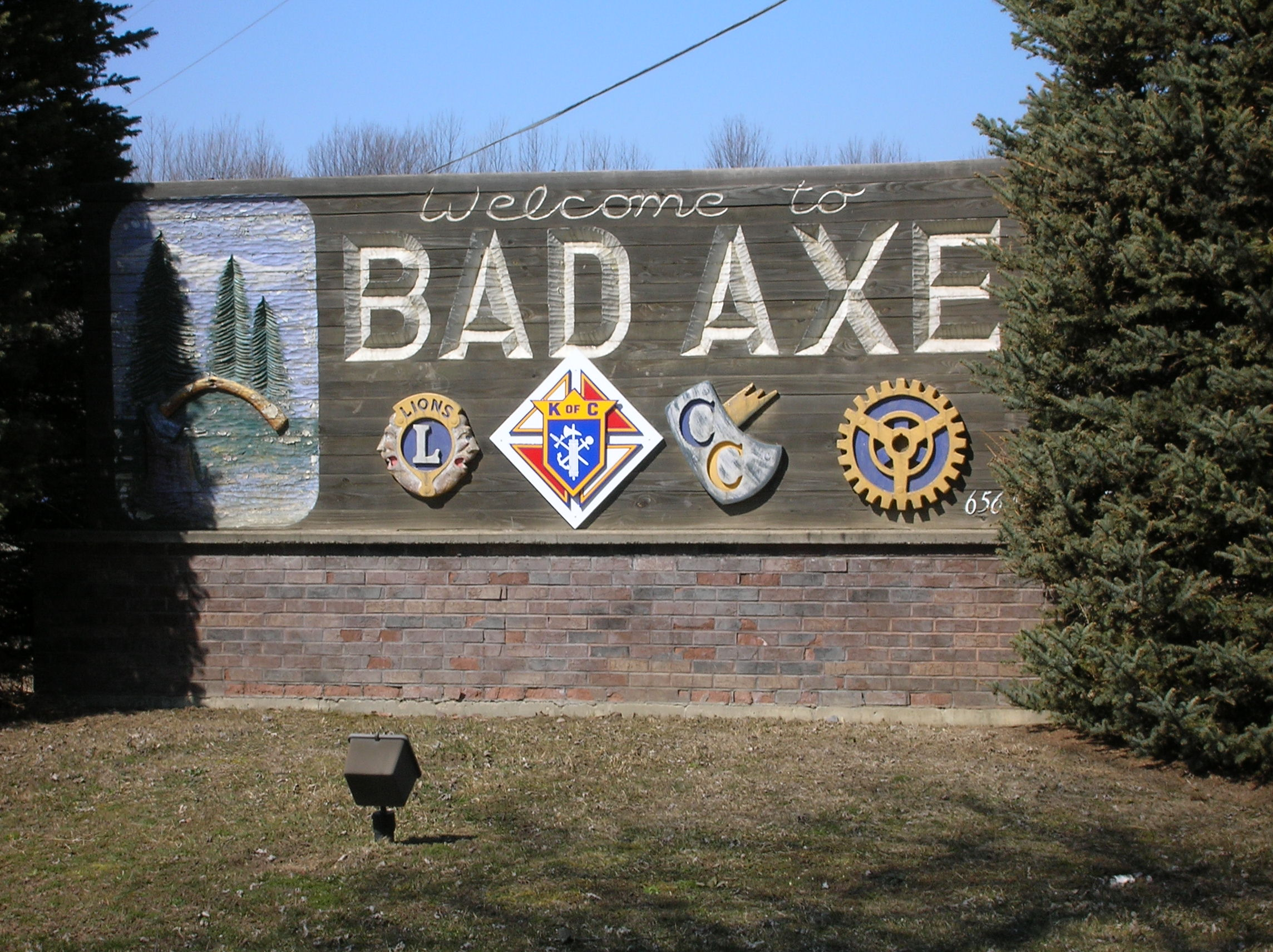 Bad Axe Sign