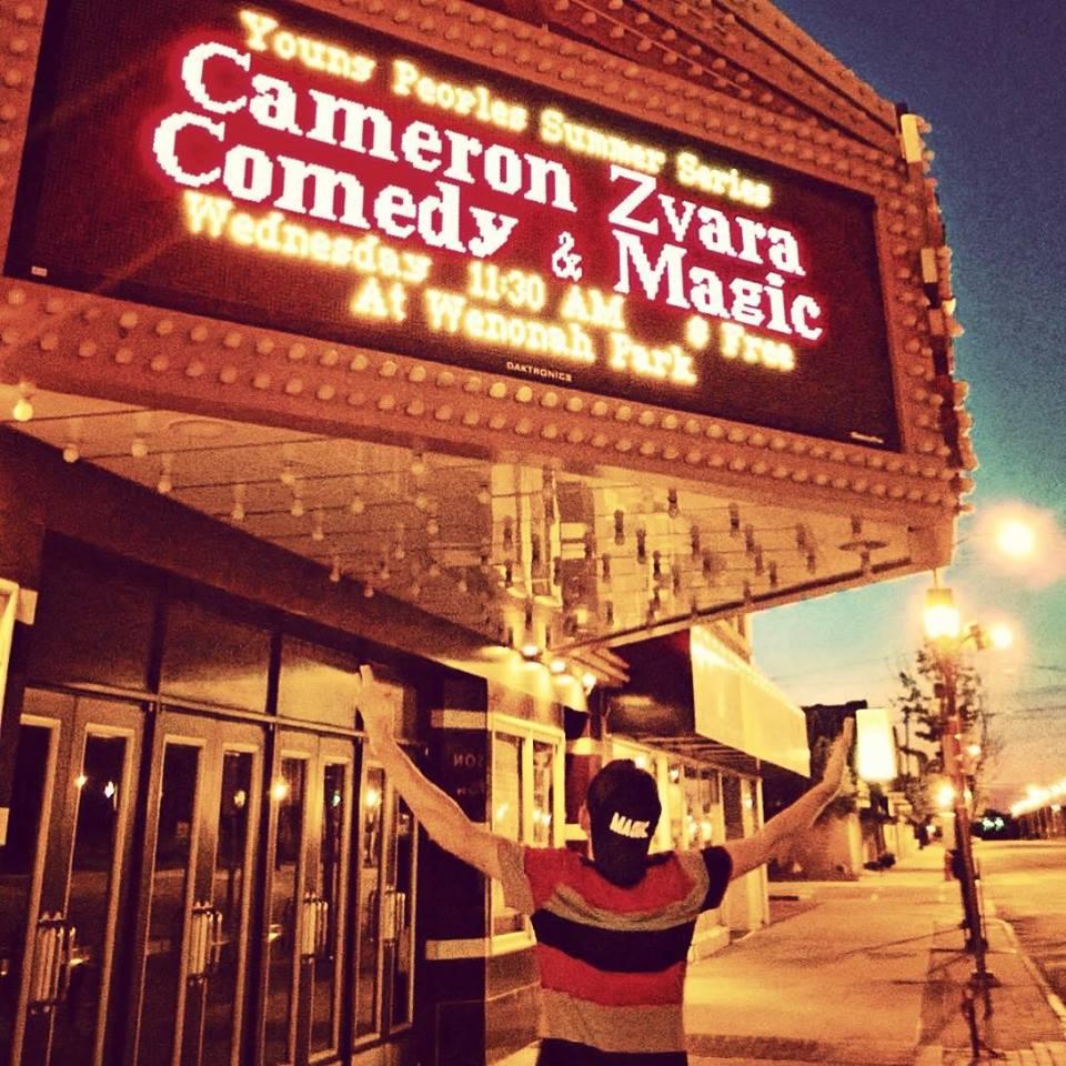 Cameron Zvara - Comedy and magic entertainment for Saturday, June 20th.