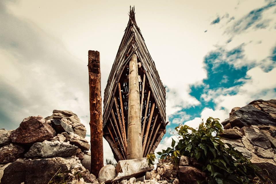 """Emergency Ark"" by Scott Hocking - located on the Goretski farm on Fehner Road near Oak Beach."