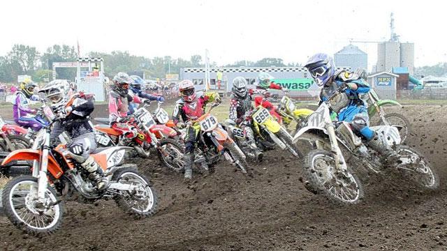 Motocross races at MPX Race Track in Sebewaing, MI.