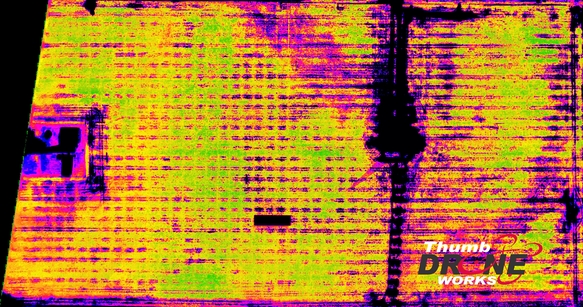 NDVI image of a field showing crop health