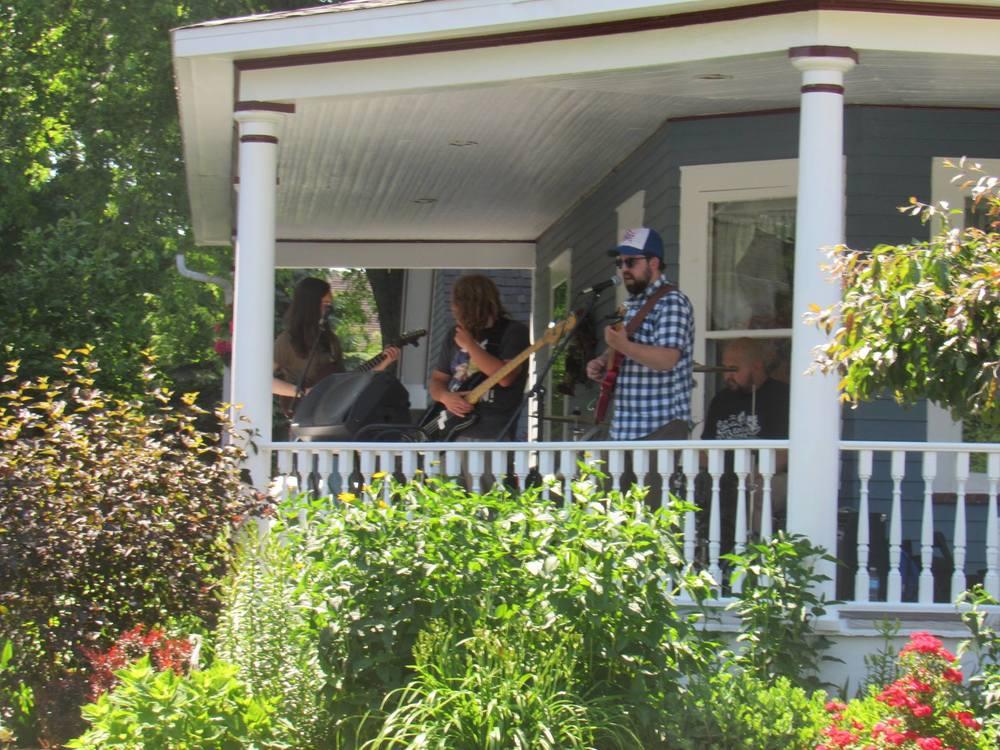 Porch Fest in Port Austin Mountain Babies
