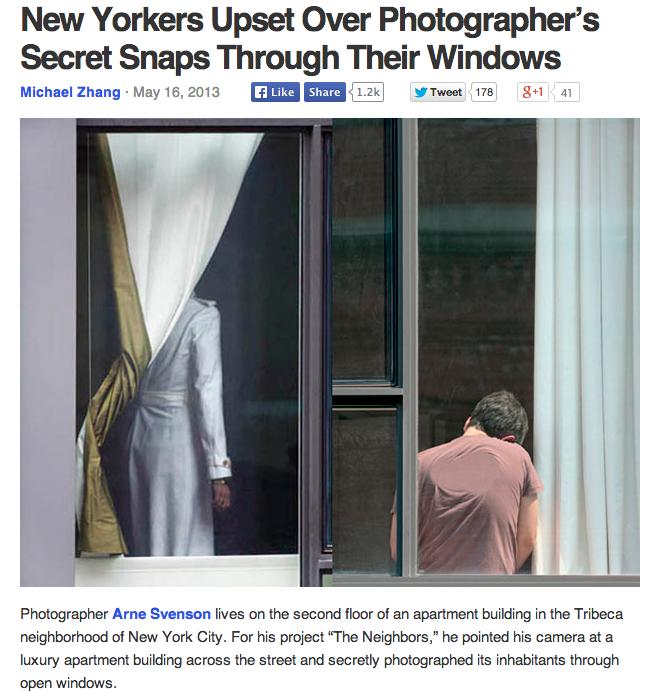 PetaPixel reports on Arne Svenson's photography project.