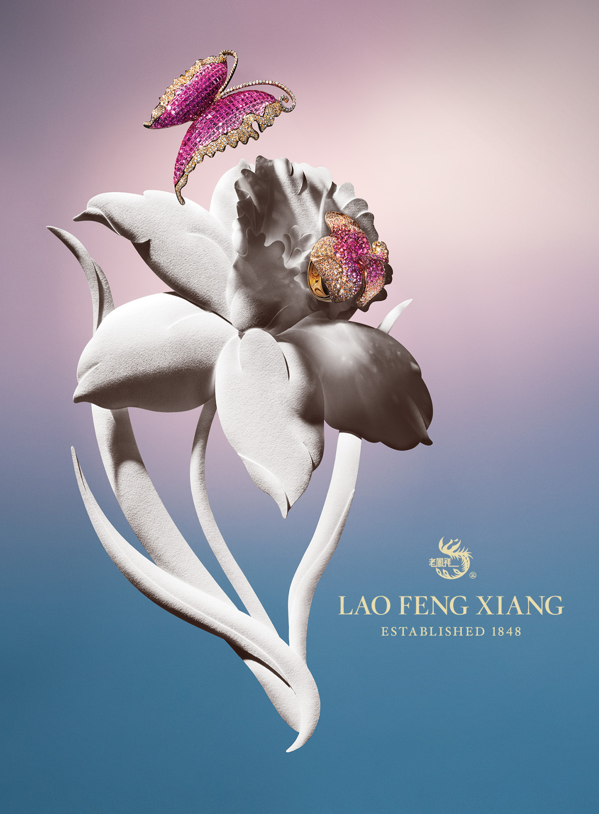 Luxury Fine Jewelry Brand  Lao Feng Xiang Advertising Campaign Creative Direction  by Benard Creative.