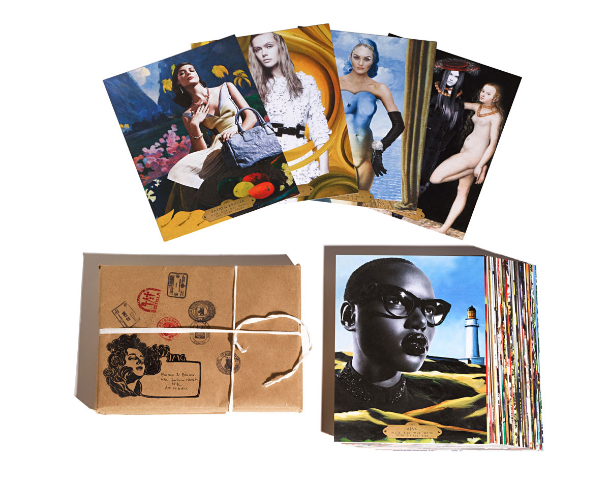 IMG Models Showpack Print Design by Benard Creative. Modern Fashion Models Meet HistoricWestern Art Paintings.