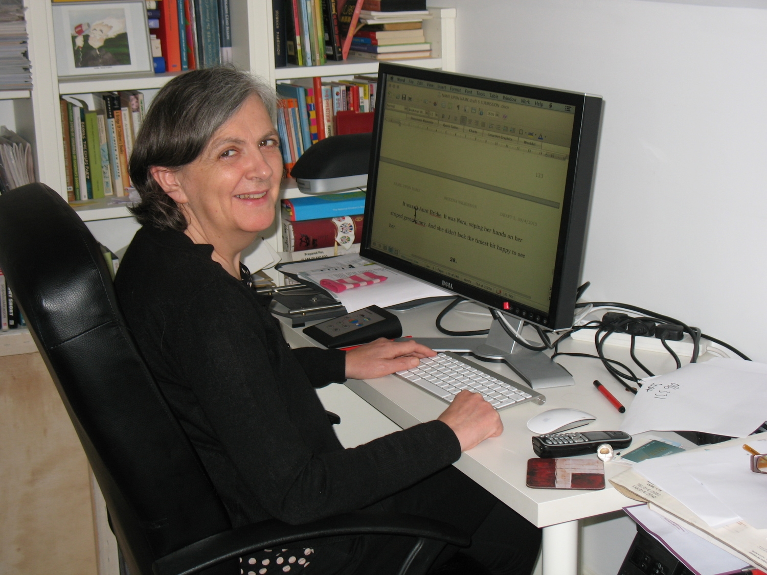 Siobhán at her computer.JPG