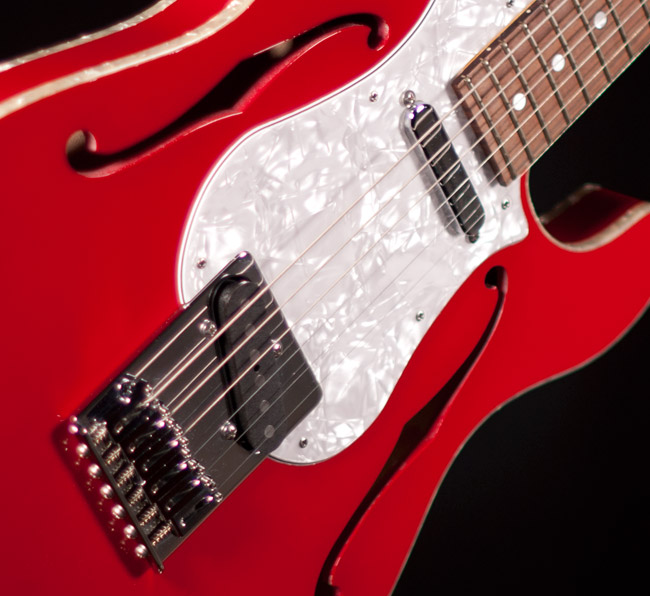Single coil pickups in a classic Telecaster style by Lollar.