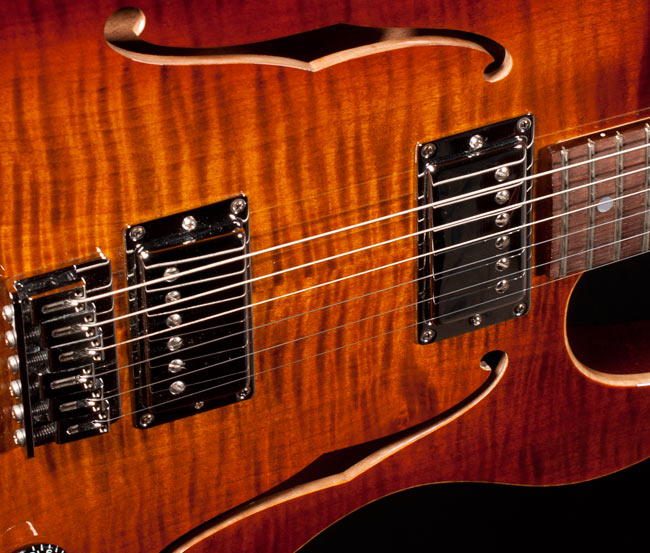 Lollar Imperial Humbuckers in a Boedigheimer BB-1. These pickups are scatter wound in a vintage style design.