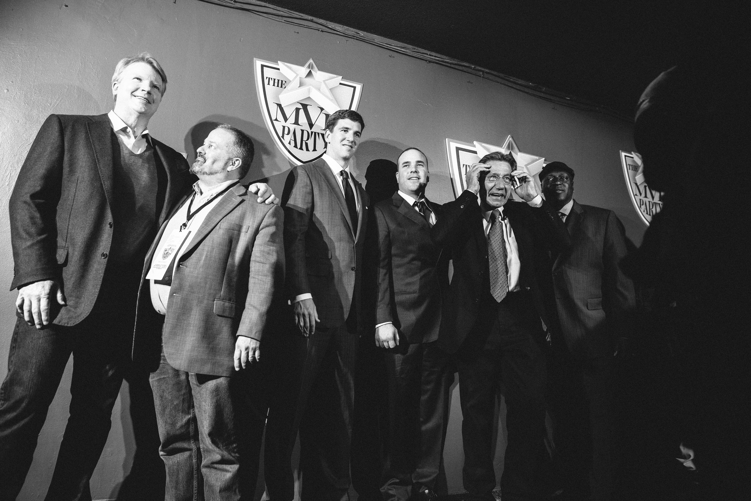 Phil Sims, Eli Manning, and Joe Namath, Roseland Ballroom