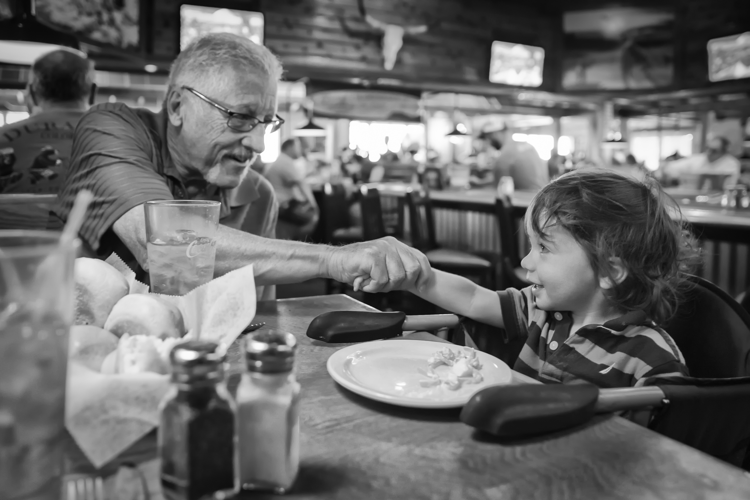 Grandpa seeing his Grandson