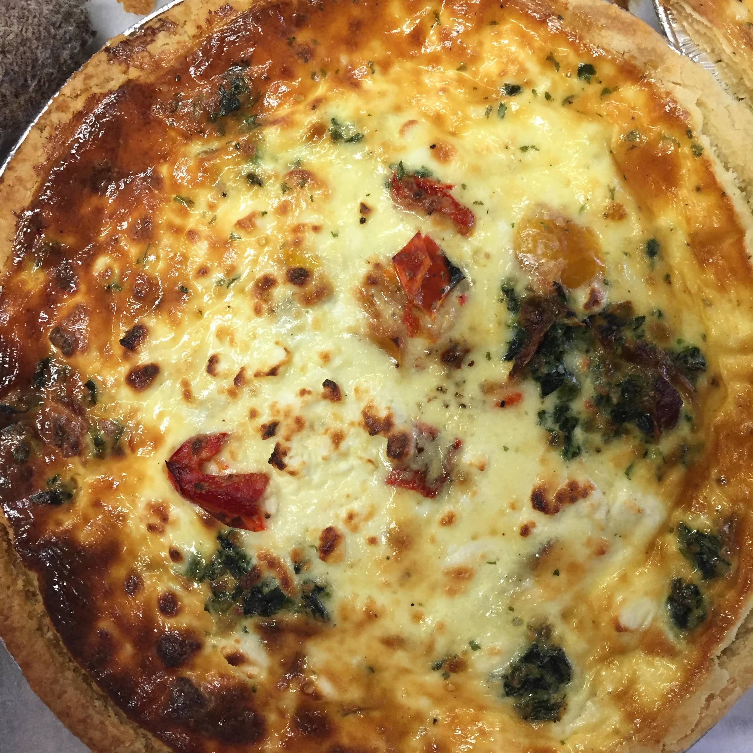 Fresh and frozen quiches available at Reesor's in Stouffville.