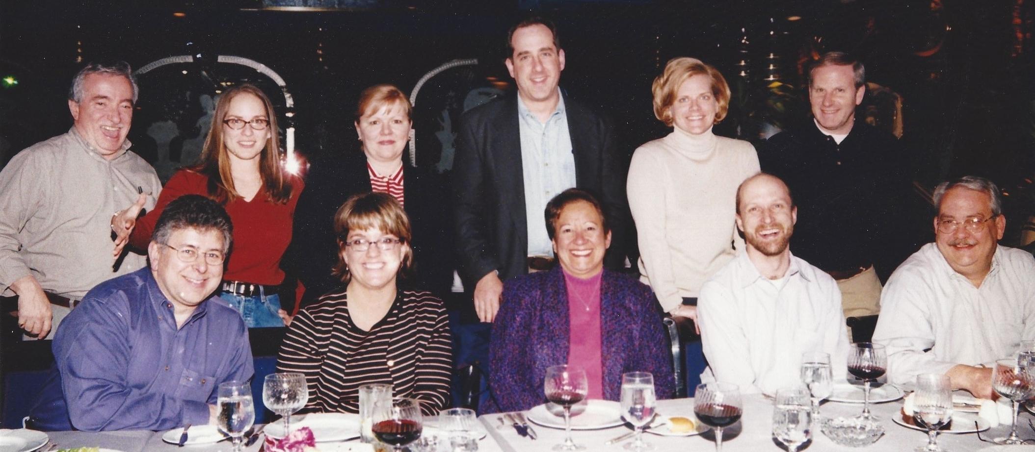 The CDNOW Exec team at an offsite retreat at caesar's atlantic city