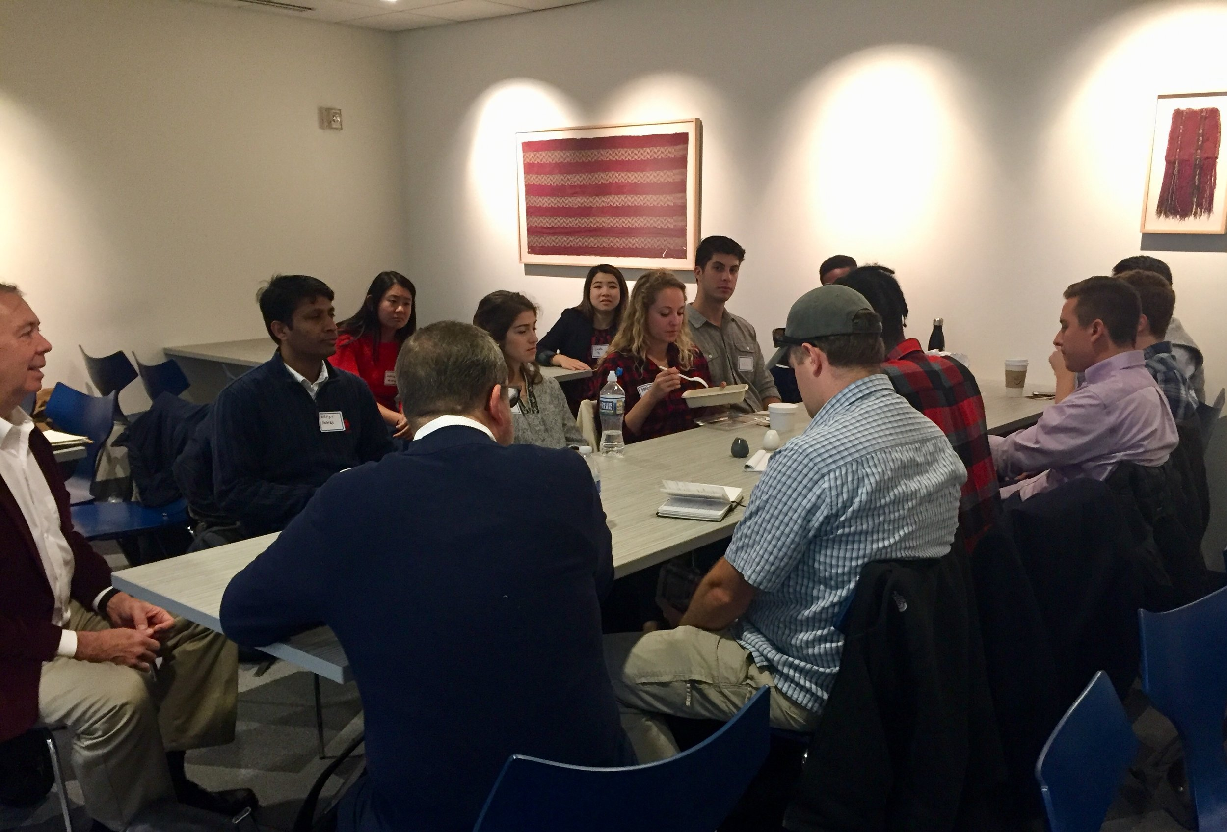 Entrepreneurs at the philly bootstrappers breakfast on october 23, 2018