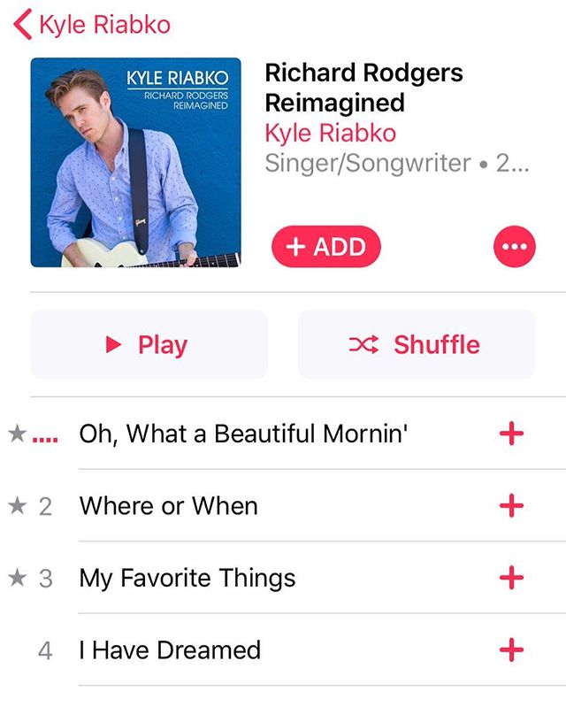 I'm not a great self promoter, but here's a little self promotion.  If you haven't checked this album out, give it a shot on Apple Music or Spotify or whatever.  I made it in my apartment last year and I'm proud of it.  #richardrodgers #music #newalbum #riabko #coversong #cover