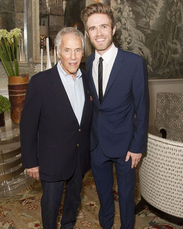 Throwback to an opening night with Burt.  #burtbacharach