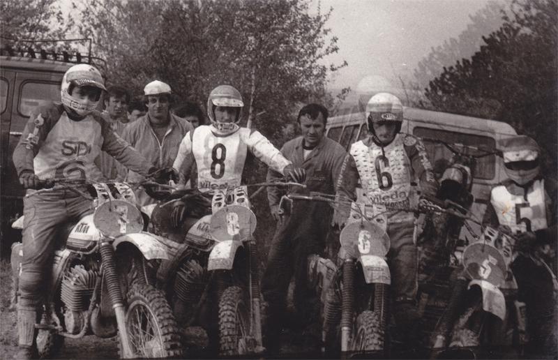 Az első BBK csapat #7 - Czuni-László, #8 - Nátó János, #6 - Németh Kornél, #5 - Somogyi József