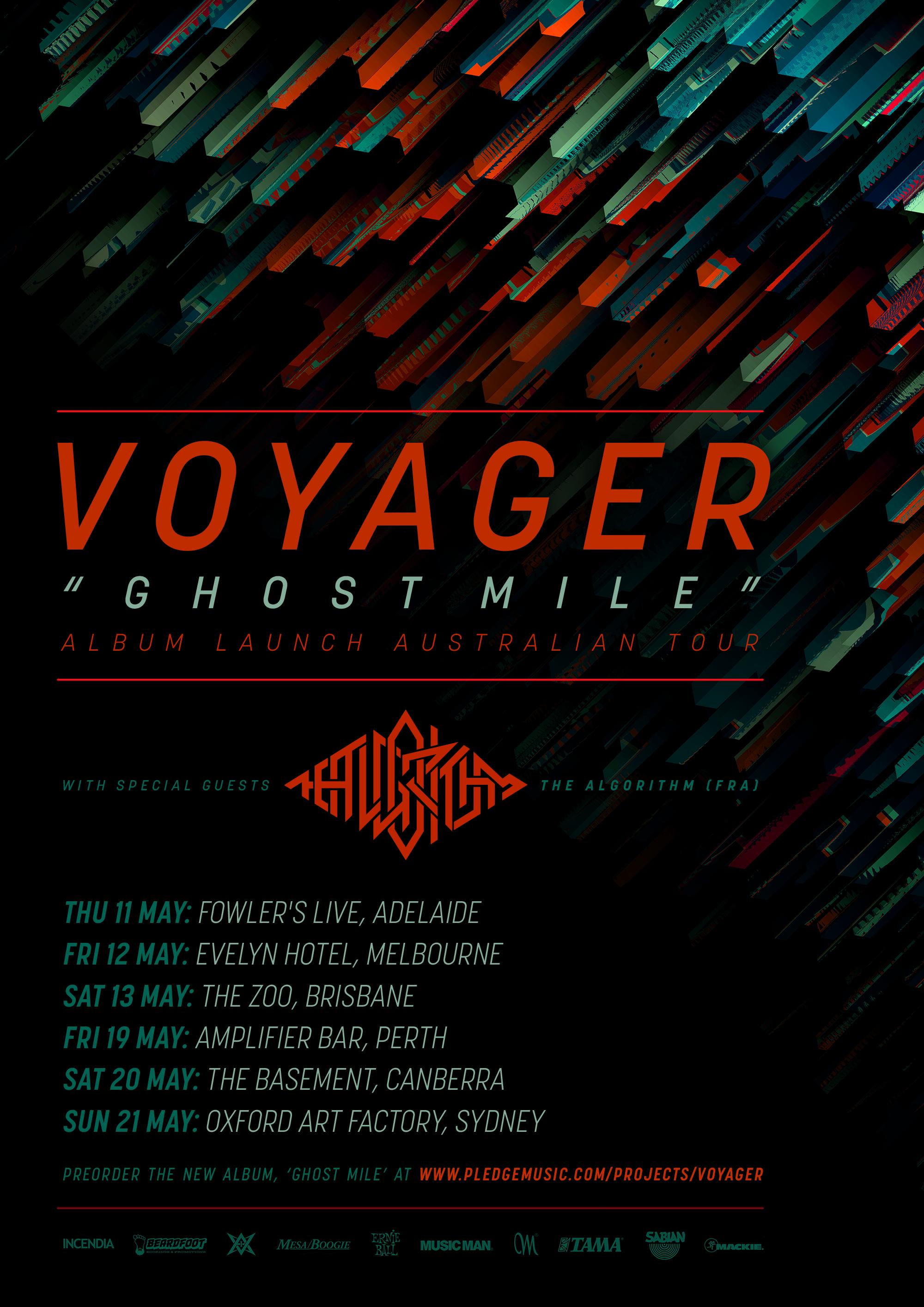 Australia Tour 2017 Voyager The Algorithm