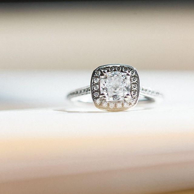 Speaking of details! How pretty was Kelly's ring?! #michiganweddingphotographer #realweddings #katesassakphotography #inthedetails #dycweddings #engagementring