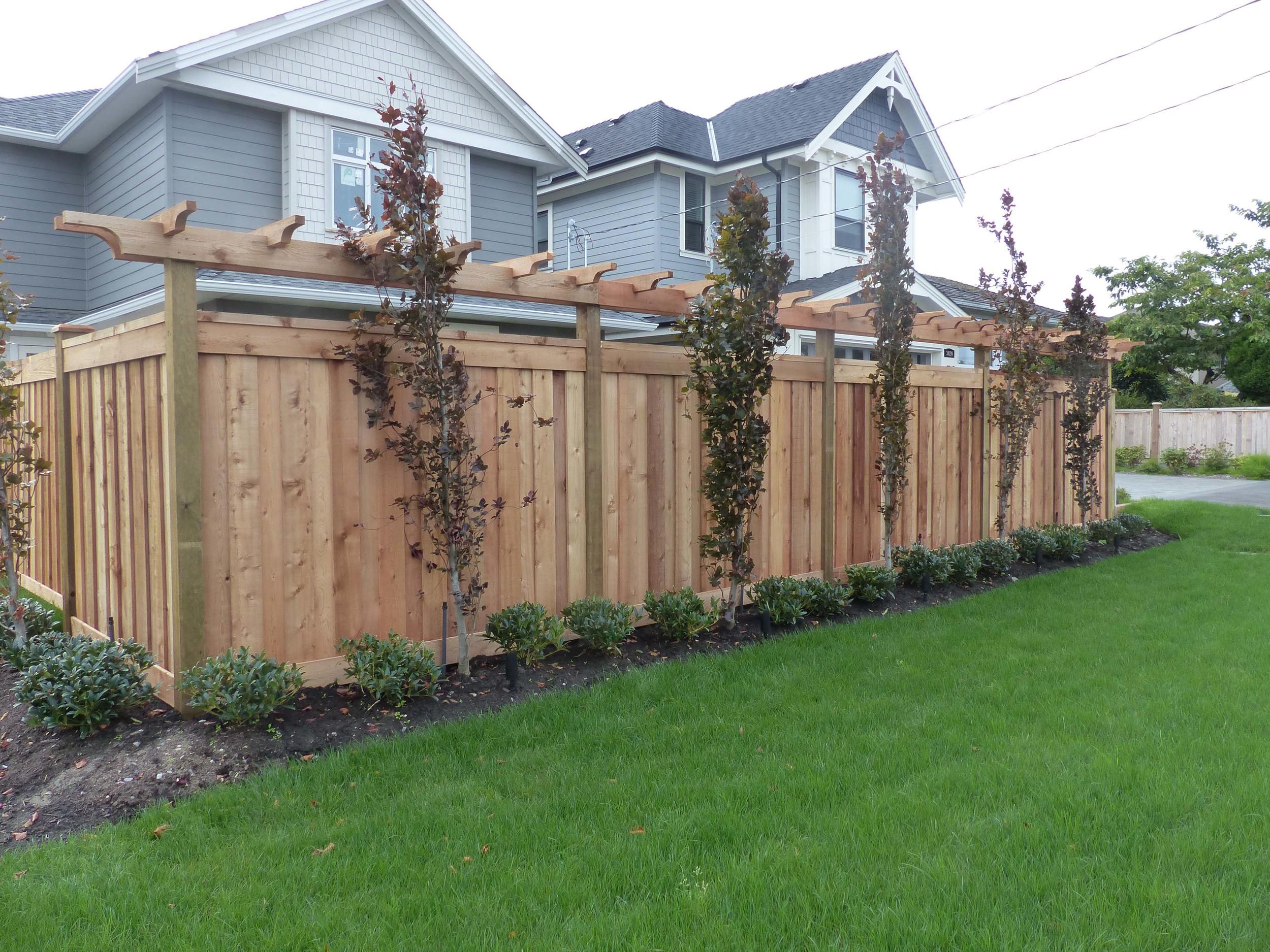 Overlapping Cedar Fence