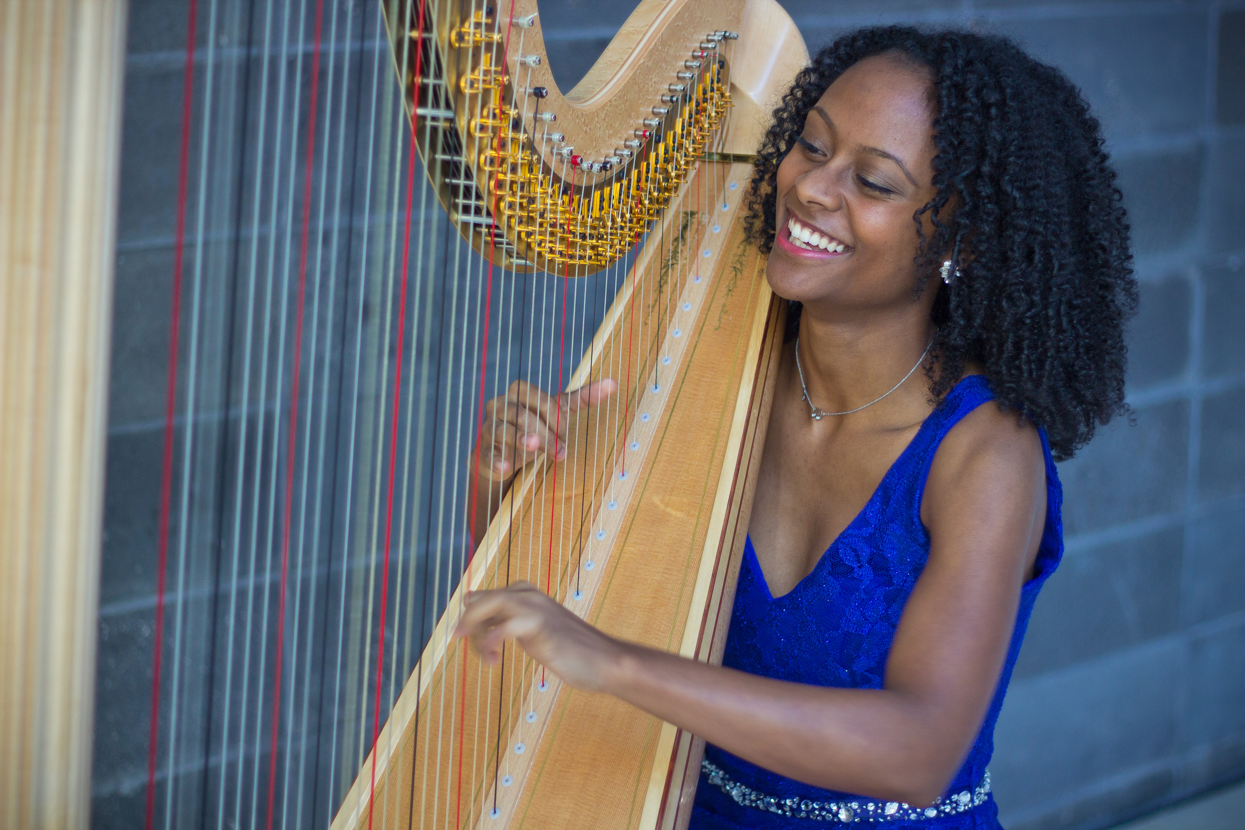 Angelica Hairston, a native of Atlanta, Georgia, is currently pursuing a Master of Music Industry Leadership at Northeastern University as a 2015 recipient of the Dr. Martin Luther King, Jr., Graduate Fellowship. Angelica studied with world renowned harpist Judy Loman at The Glenn Gould School of The Royal Conservatory of Music in Toronto, Ontario, where she received a Harp Performance Diploma, in addition to a Bachelor of Music from Thompson River University. Angelica was a member of the highly-selective Atlanta Symphony Orchestra's Talent Development Program for six years (2006-2011), where she was a student of ASO principal harpist Elisabeth Remy Johnson. Angelica has attended summer music programs at the National Music Festival, Boston University Tanglewood Institute, Saratoga Harp Colony, International Harp Academy of the Pacific in Powell River B.C. and the Judith Liber Harp Masterclass in Lake Como, Italy.  She has performed concertos with the   Atlanta Symphony Orchestra, Nashville Symphony Orchestra, Montgomery Symphony, and the   Daytona Solisti Chamber Orchestra. As a passionate solo and chamber musician, Angelica has a deep interest in performing the works of minority composers for new audiences.