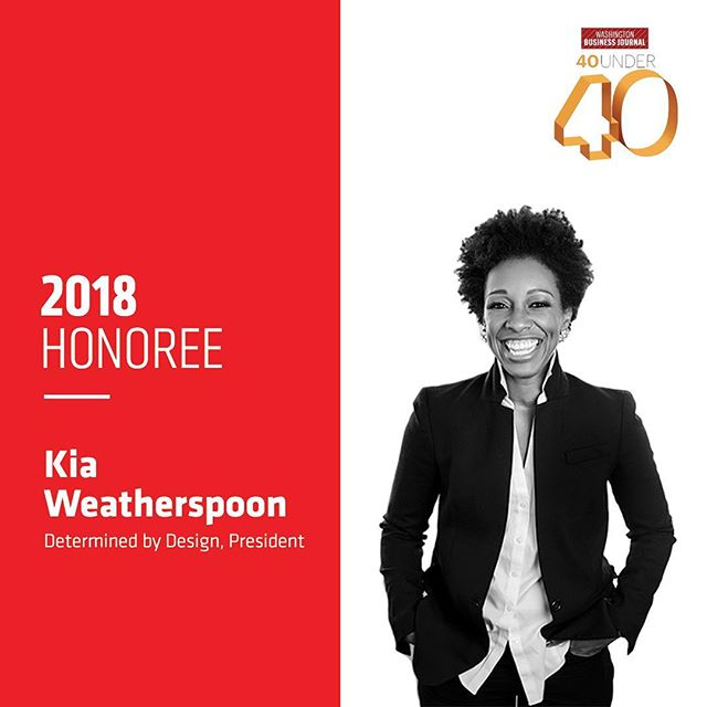It's a celebration 🎉 🍾! Our #ladyboss @kianweatherspoon is a 2018 Washington Business Journal 40 Under 40 honoree! Raise your hand if you're as proud as we are!!