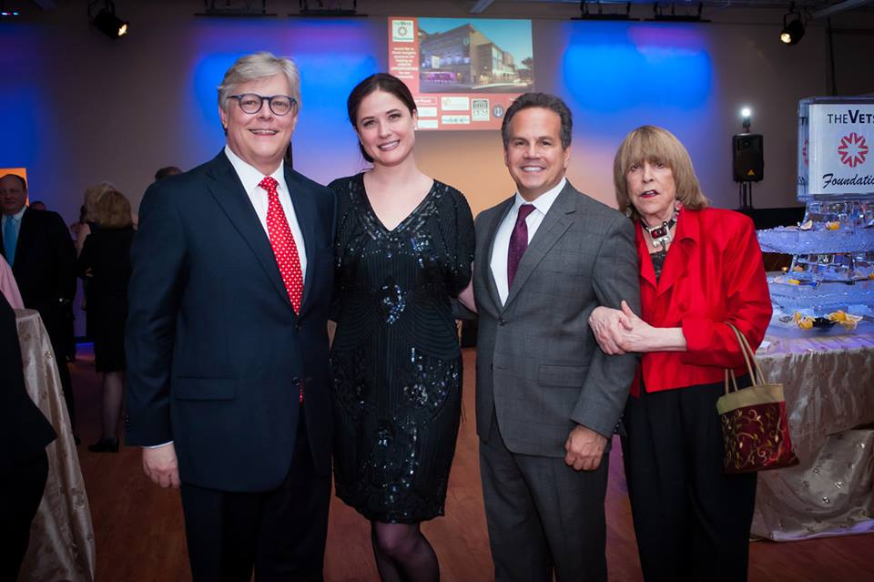 Board member and past President Paul Brooks, board member Kaitlyn A. Frolich, the Honorable David Cicilline and guest
